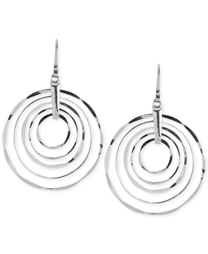 Robert Lee Morris Soho - Silver-Tone Hammered Ring Orbital Earrings