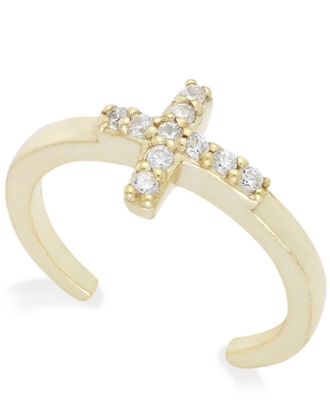 Giani Bernini Cubic Zirconia Cross Toe Ring in 18k Gold over Sterling Silver