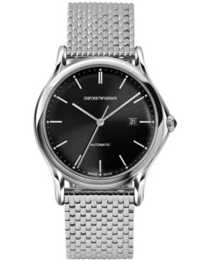 Emporio Armani Men's Swiss Automatic Stainless Steel Bracelet Watch 42mm ARS3005