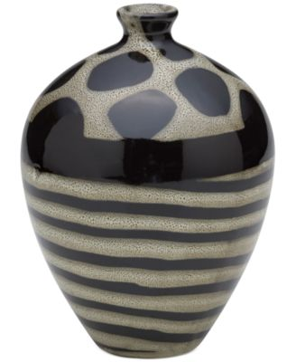 Bombay Safari Ceramic Vase, 8""