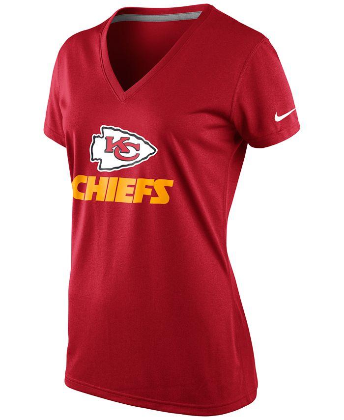 Nike - Women's Short-Sleeve Kansas City Chiefs V-Neck T-Shirt