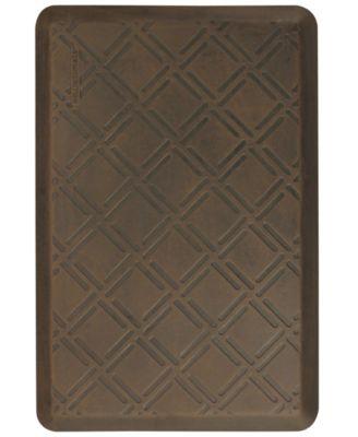 WellnessMats 3' x 2' Motif Moire Antique Floor Mat