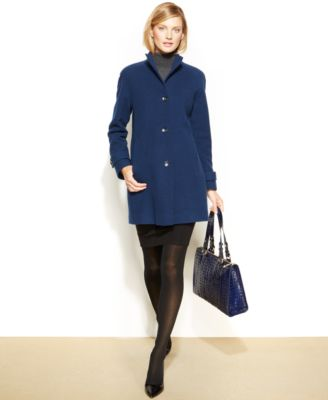 Jones New York WoolBlend FunnelNeck Walker Coat