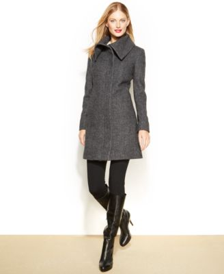 Jones New York Tweed Walker Coat