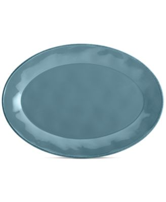 Rachael Ray Cucina Agave Blue Oval Platter