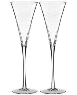 kate spade new york Set of 2 Larabee Dot Toasting Flutes