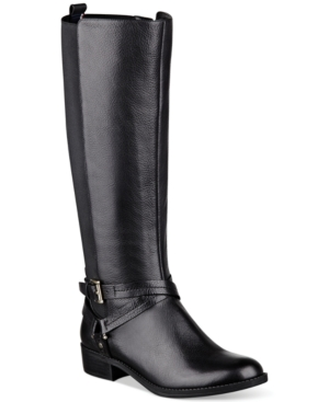 Tommmy Hilfiger Womens Sienna Tall Stretch Back Riding Boots Womens Shoes