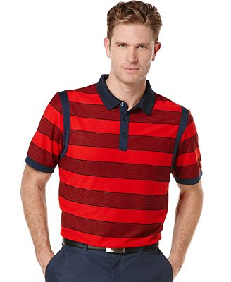 Callaway big and tall rugby striped performance golf polo for Big and tall polo rugby shirts