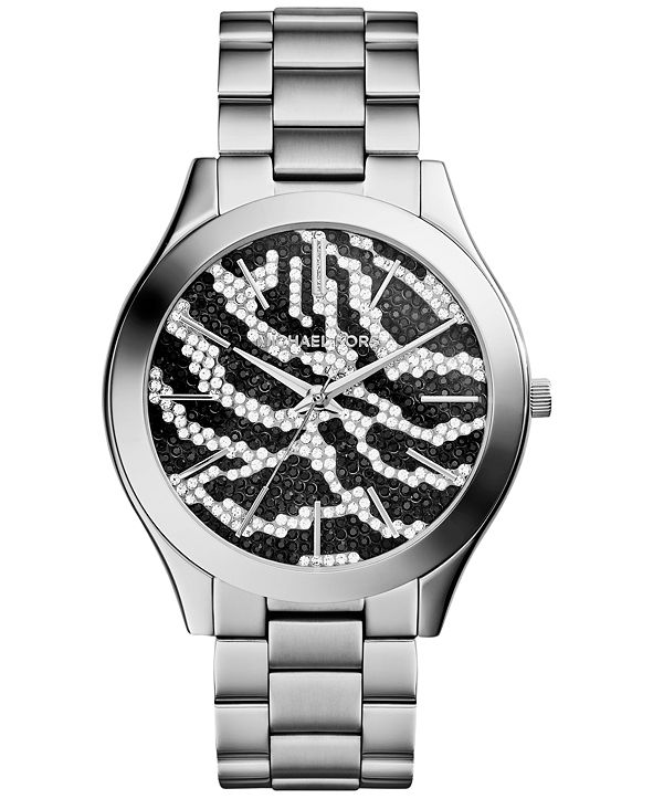 Michael Kors Women's Slim Runway Stainless Steel Bracelet Watch 42mm MK3314