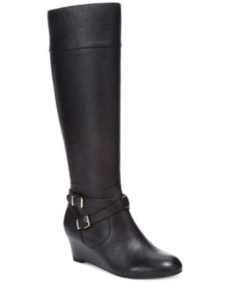 giani bernini kalie wide calf wedge boots shoes macy s