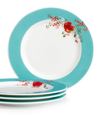 Lenox Simply Fine Set of 4 Chirp Dessert Plates