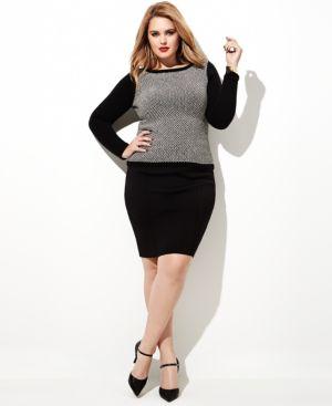 Lauren Ralph Lauren Plus Size Colorblocked Geo-Print Sweater