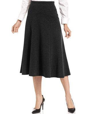 jm collection plus size ponte knit a line skirt skirts