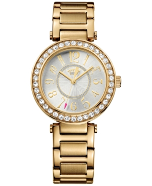 Juicy Couture Women's Luxe Couture Gold-Tone Stainless Steel Bracelet Watch 34mm 1901151