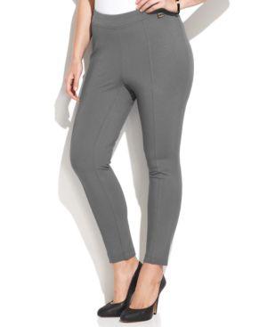 Calvin Klein Plus Size Pull-On Skinny Ponte Pants