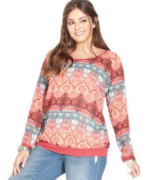 American Rag Plus Size Printed Sweatshirt