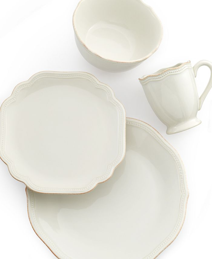 Lenox - French Pearl Bead White 4-Piece Place Setting