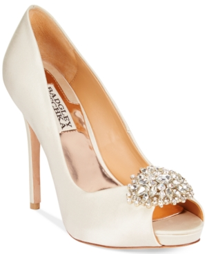 Badgley Mischka Jeannie Peep-Toe Pumps Women's Shoes