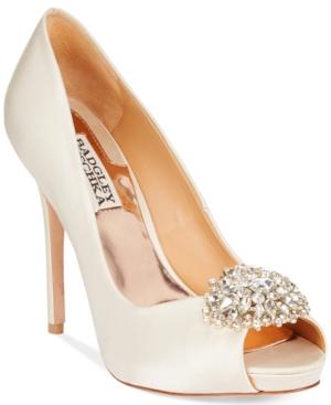 Badgley Mischka Jeannie Peep-Toe Pumps Women's Shoes