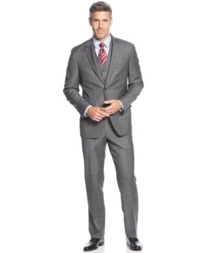 Tasso Elba Mid-Grey Neat Vested Suit $104.99 AT vintagedancer.com