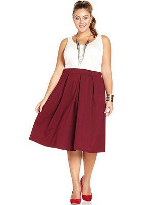 ing plus size a line midi skirt skirts plus sizes macy s