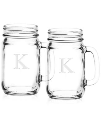 Monogram Mason Jars, Set of 2