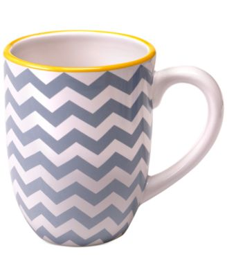Certified International Grey Chevron Mug