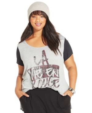 Jessica Simpson Plus Size French Graphic Tee