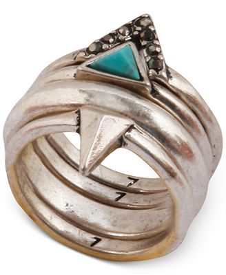 Fossil Turquoise Stacked Ring