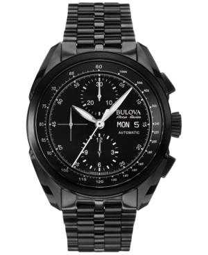 Bulova AccuSwiss Men's Automatic Chronograph Tellaro Black Pvd Stainless Steel Bracelet Watch 43mm 65C116