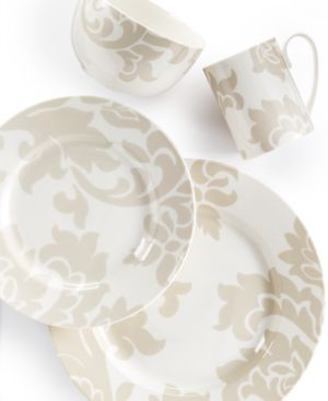 Martha Stewart Collection Lisbon Grey 4-Piece Place Setting