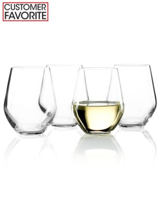 Lenox Stemware, Tuscany Classics Stemless White Wine Glasses, Set of 4