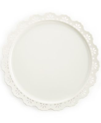"Martha Stewart Collection 13"" Pierced Cake Plate"