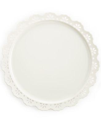 """Martha Stewart Collection 13"""" Pierced Cake Plate"""