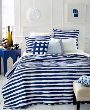 Closeout! Martha Stewart Whim Collection Different Strokes Full/Queen Quilt Bedding