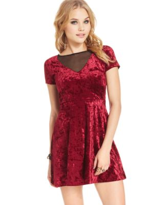 One Clothing Juniors' Velvet Illusion Dress