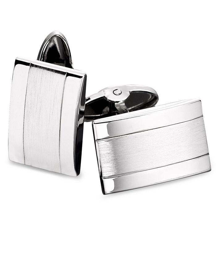 Macy's - Men's Stainless Steel Dome Cuff Links