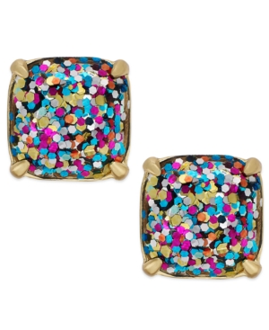 kate spade new york Gold-Tone Glitter Stone Stud Earrings