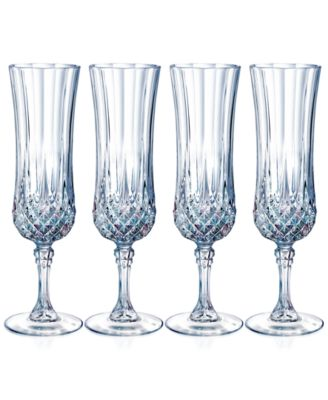 Longchamp Diamax Champagne Flutes (Set of 4)
