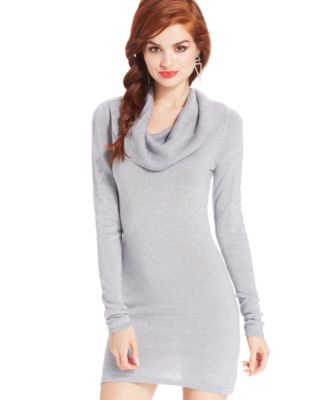 Energie Juniors' Metallic CowlNeck Sweater Dress
