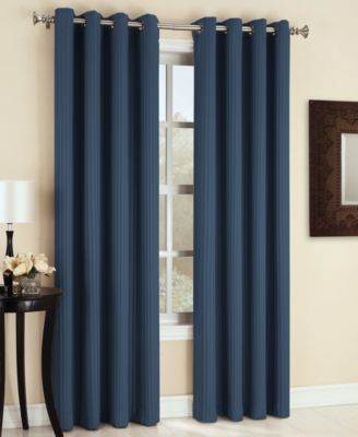 "Sun Zero Maximus Woven Vertical Stripe Blackout 54"" x 95"" Curtain Panel"