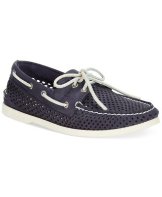 Eye Laser Perforated Boat Shoes