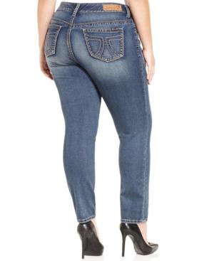 Seven7 Jeans Plus Size Knit Skinny Jeans, Cassiel Wash