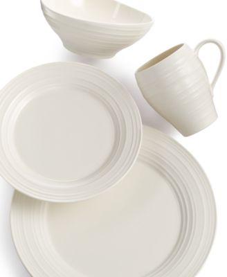 Mikasa Dinnerware, Swirl Round 4 Piece Place Setting