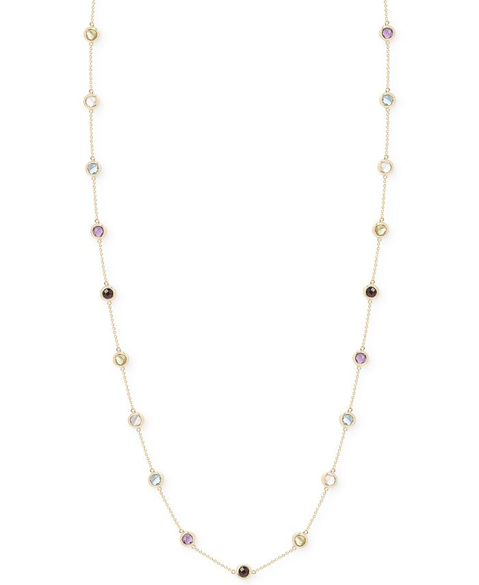 Victoria Townsend - Multi-Stone Bezel Necklace in 18k Gold over Sterling Silver (20 ct. t.w.)