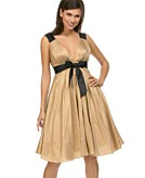 A.B.S. by Allen Schwartz V-neck Dress with Bow