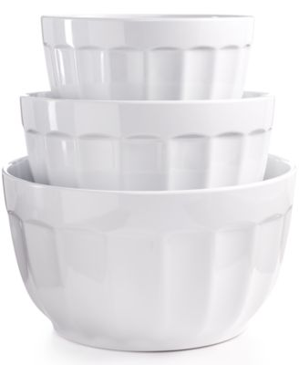 Martha Stewart Collection Set of 3 Fluted Melamine Bowls