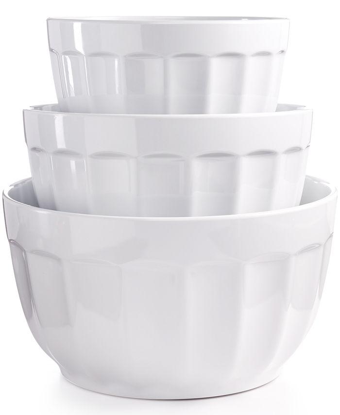 Martha Stewart Collection - Set of 3 Fluted Melamine Bowls