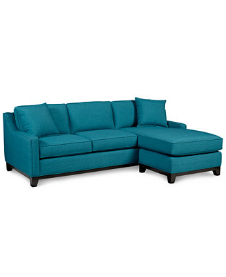Keegan fabric 2 piece sectional sofa furniture macy39s for Macy s small sectional sofas