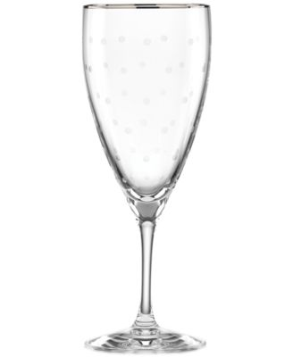 kate spade new york Larabee Dot Platinum Iced Beverage Glass